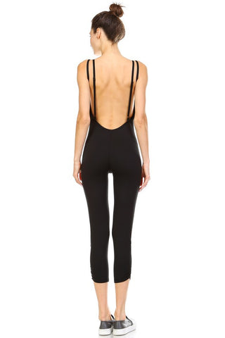Dhyana Yoga Jumpsuit-Black - Hapa Clothing - 2