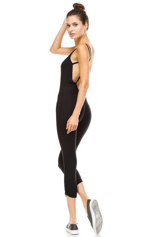 Dhyana Yoga Jumpsuit-Black - Hapa Clothing - 3
