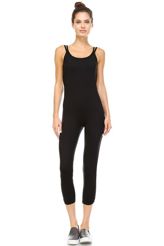 Dhyana Yoga Jumpsuit-Black - Hapa Clothing - 4