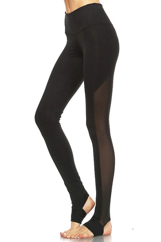 Emila Yoga Leggings-Black - Hapa Clothing