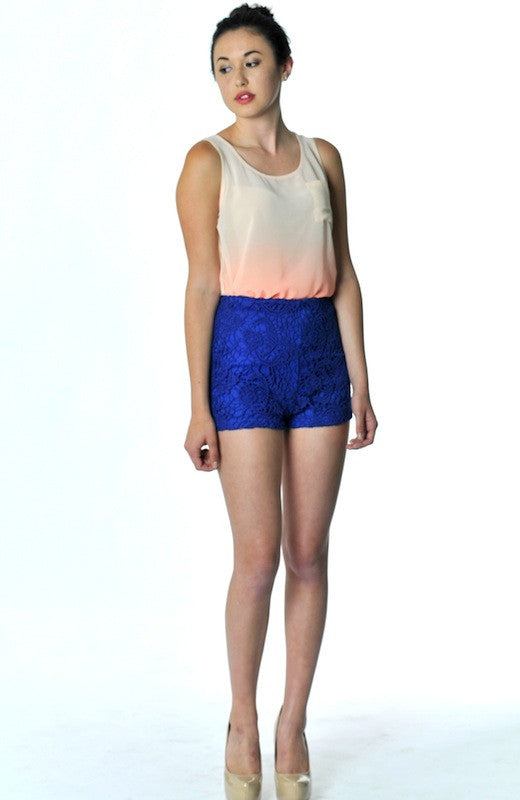 Electric Flower Lace Short - Hapa Clothing