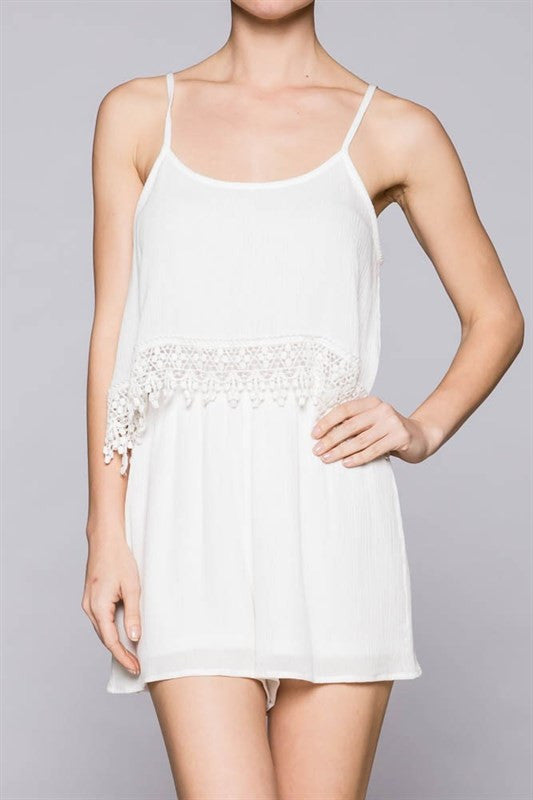 Tearose Romper- White - Hapa Clothing