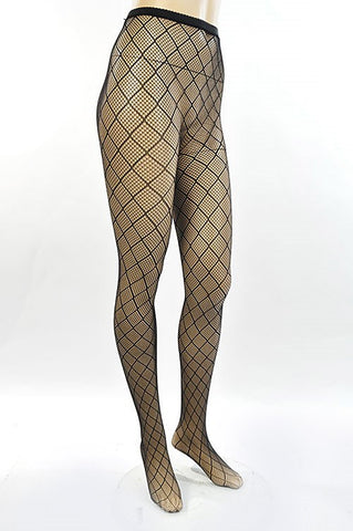 Dare to Wear Fishnet Stockings - Black - Hapa Clothing - 1