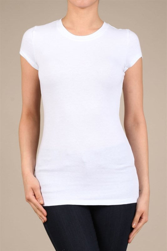 High Neck Tee-White - Hapa Clothing