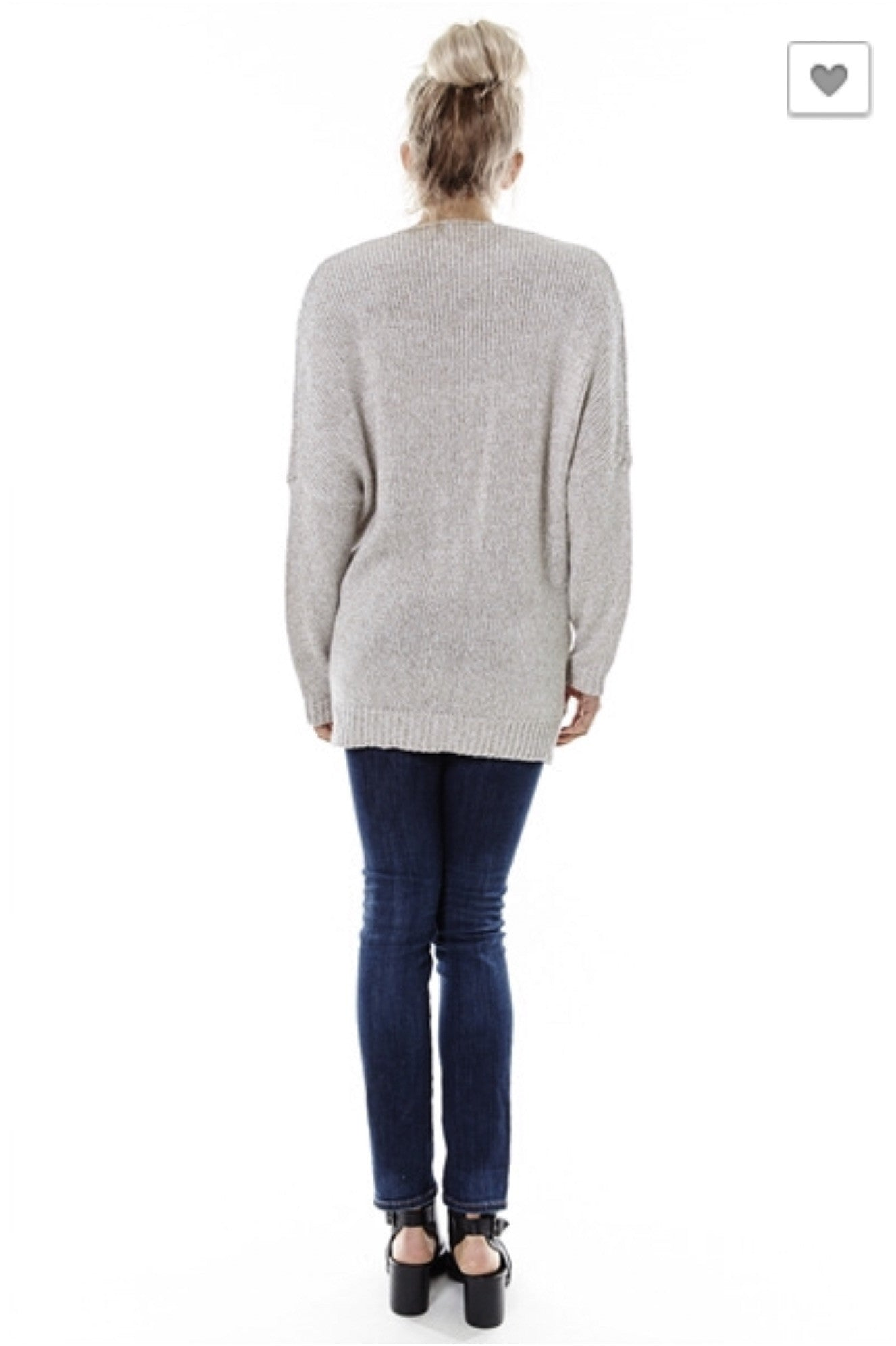 Naomi Drape Front Sweater - Oatmeal - Hapa Clothing - 3