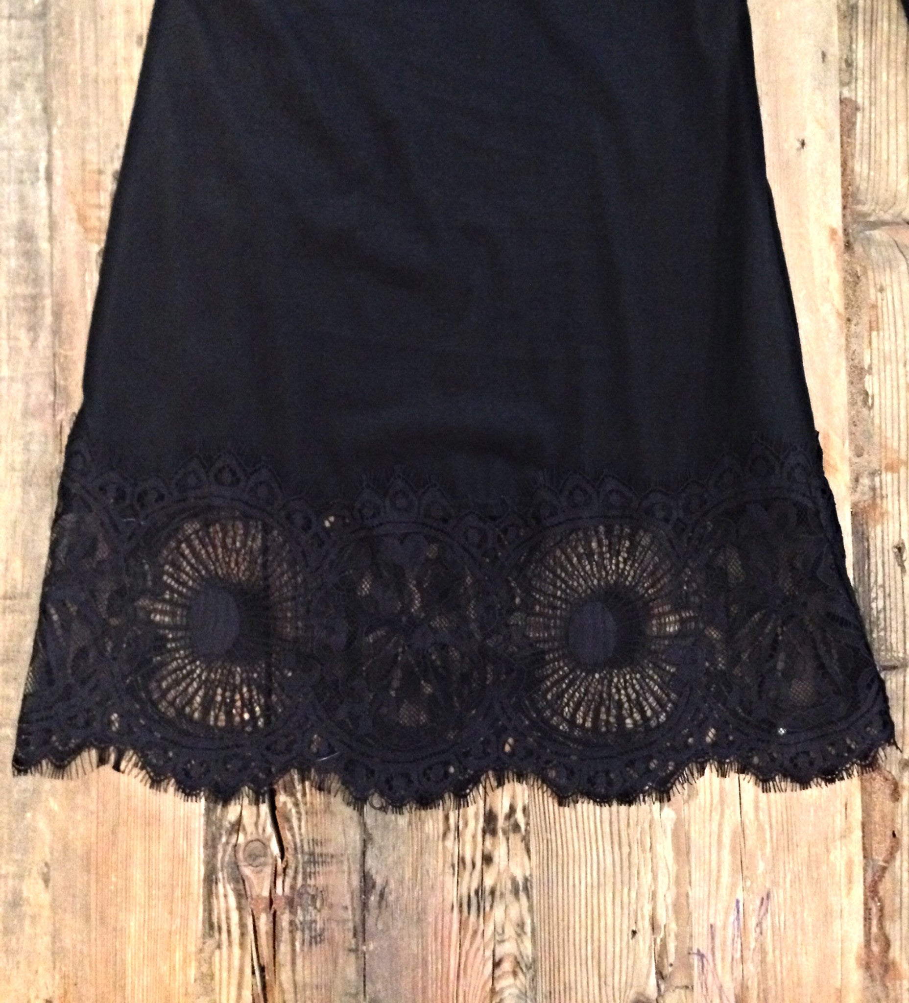Delilah Lace Bottom Pants-Black - Hapa Clothing