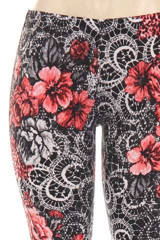 Rose High Waisted Bell Bottom-Rose Print - Hapa Clothing