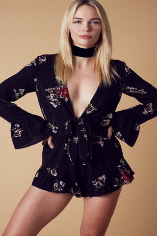 Harmony  Romper-Black - Hapa Clothing