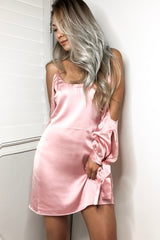 Amber Silk Dress - Dusty Rose