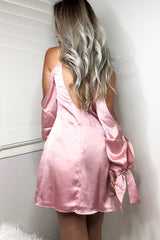 Amber Silk Dress - Dusty Rose - Hapa Clothing