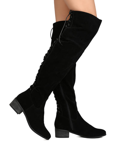 Maeve Lave Up Back Boots - Black - Hapa Clothing - 2