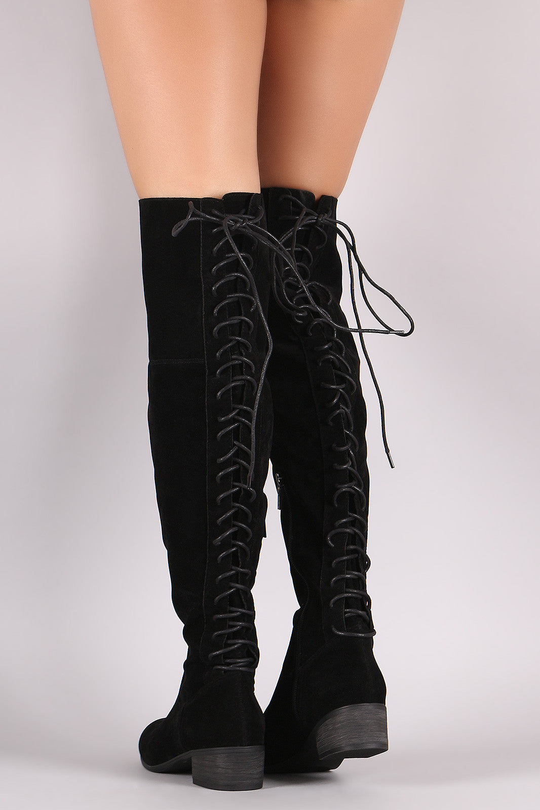 Maeve Lave Up Back Boots - Black - Hapa Clothing