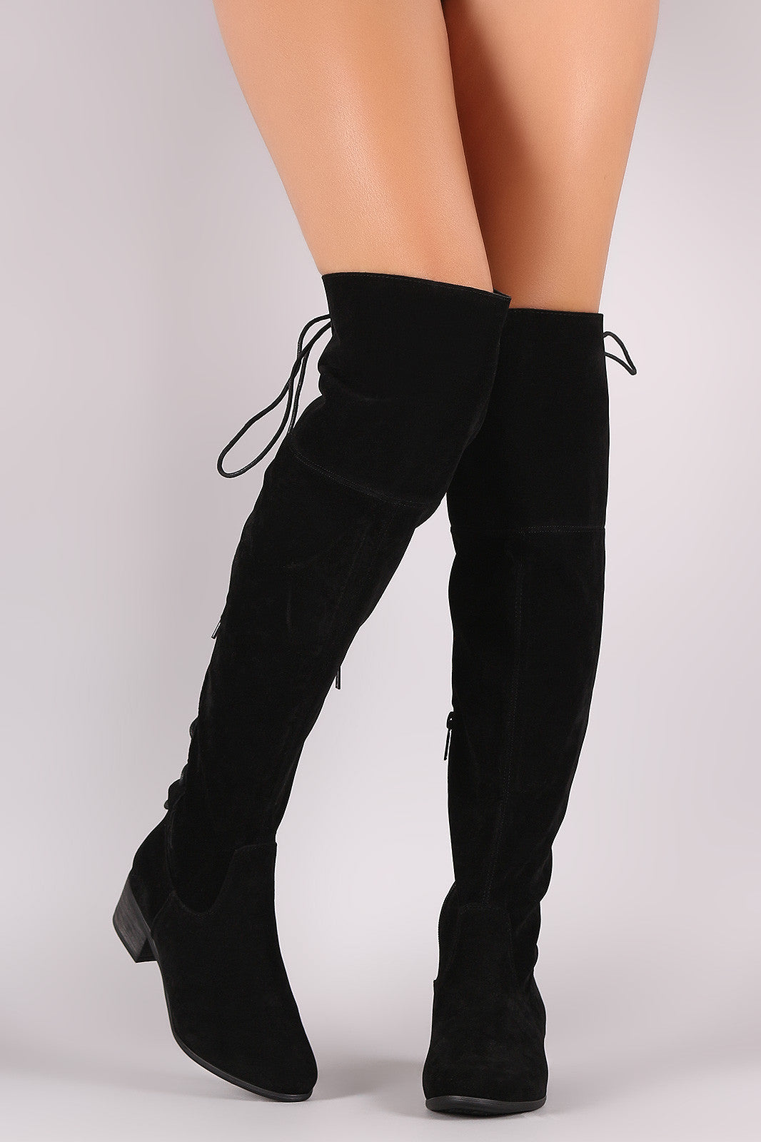 Maeve Lave Up Back Boots - Black - Hapa Clothing - 4
