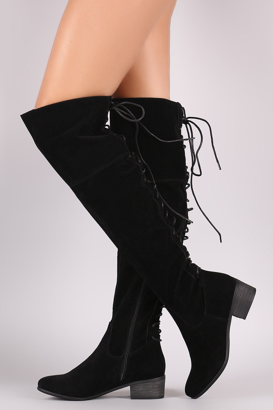 Maeve Lave Up Back Boots - Black - Hapa Clothing - 5