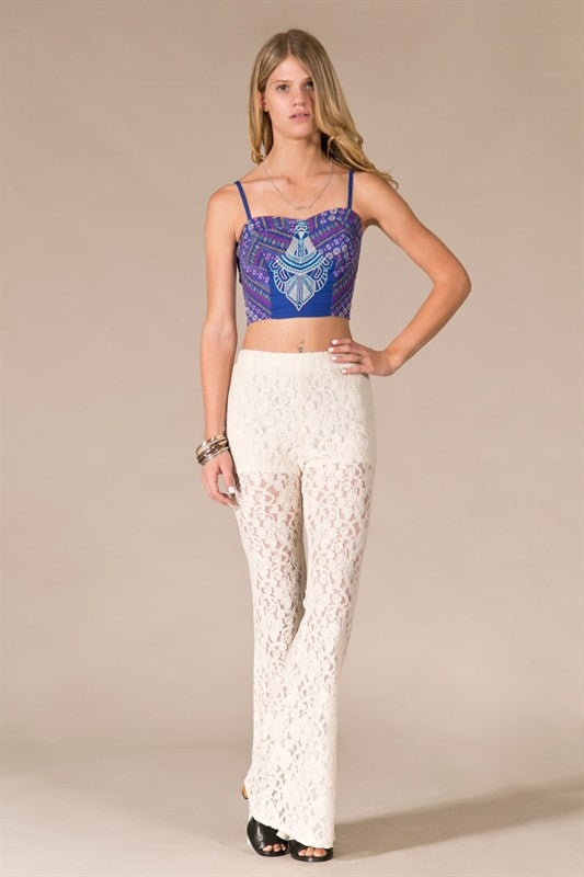 Lotus Bell Bottom-White - Hapa Clothing