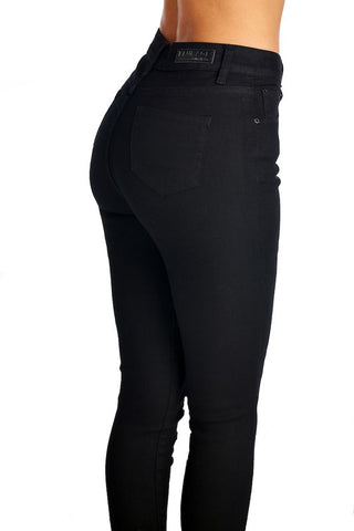 Daria High Waist Contour Skinny Jeans - Black - Hapa Clothing - 2