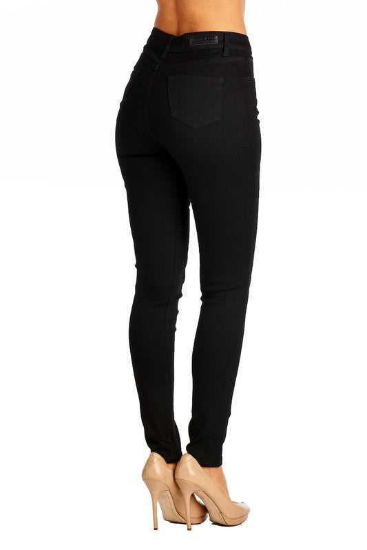 Daria High Waist Contour Skinny Jeans - Black - Hapa Clothing