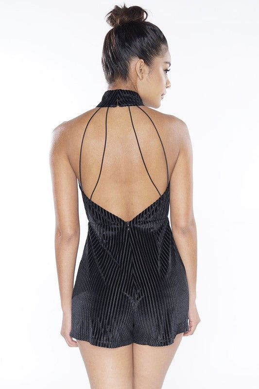 Isla Chocker  Playsuit - Black - Hapa Clothing - 2