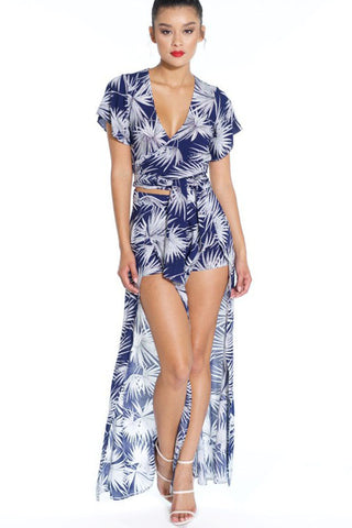 Tallulah Palm Set - Navy - Hapa Clothing