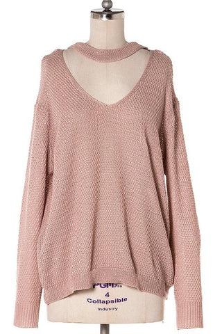Naomi Drape Front Sweater - Heather Gray