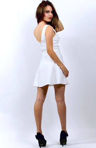 Big Dipper Skater Dress - White - Hapa Clothing