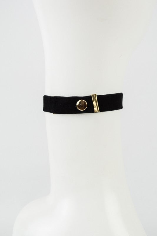 Velvet Choker-Black - Hapa Clothing