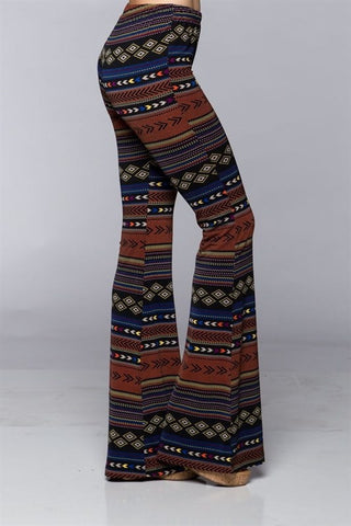 Harper Arrow Bell Bottom-Aztec - Hapa Clothing