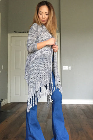 Mandy Fringe Cardigan - Hapa Clothing