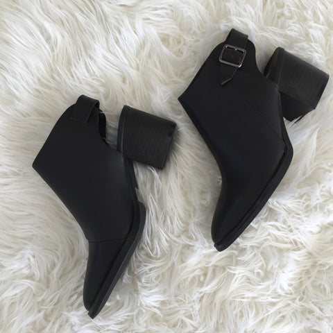 Cutout Heel Bootie - Hapa Clothing - 2