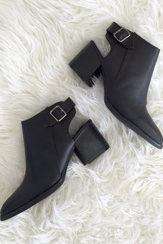 Cutout Heel Bootie - Hapa Clothing - 1