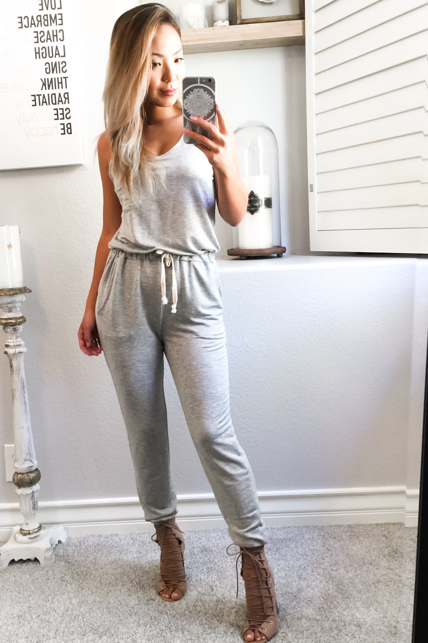Hannah Jumpsuit - Grey - Hapa Clothing