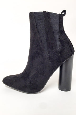 Hailee Suede Booties-Black - Hapa Clothing - 2