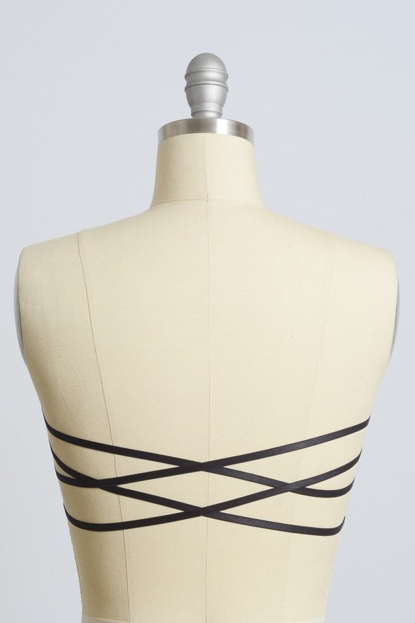 Casey Strapless Bandeau-Black - Hapa Clothing