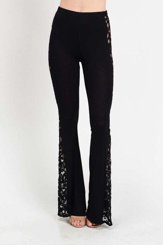 All the Way Bell Bottoms-Black - Hapa Clothing
