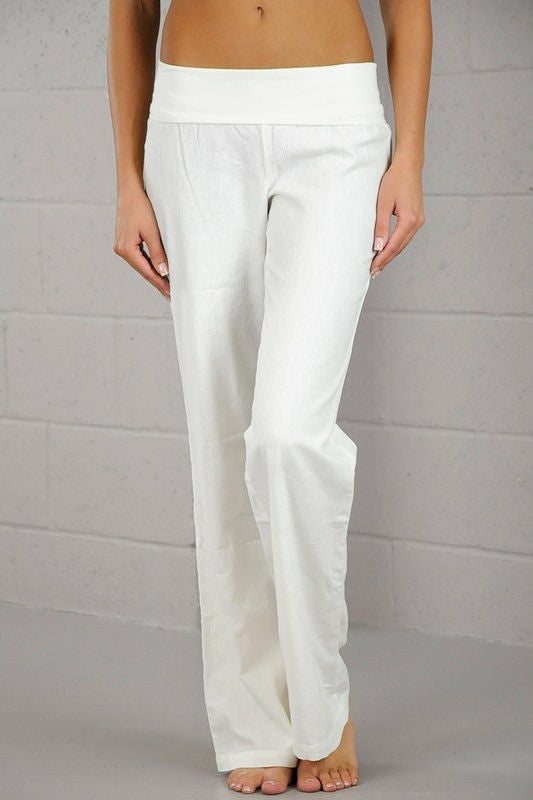 Dream Linen Pants- White - Hapa Clothing