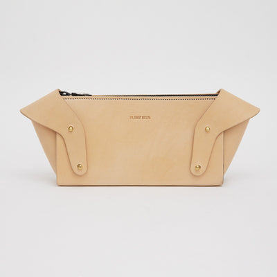 SCULPTED WING CLUTCH NUDE