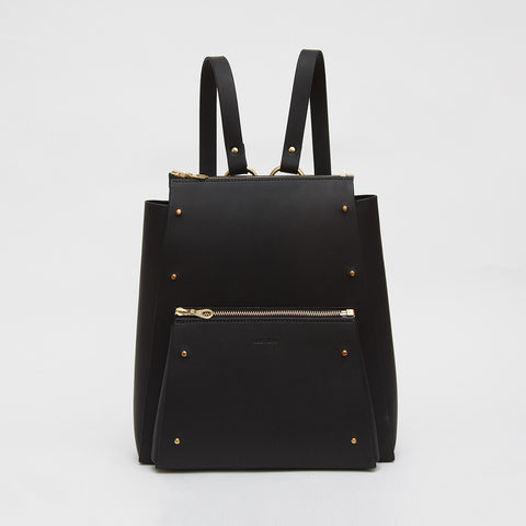 POCKET STUDDED BACKPACK BLACK