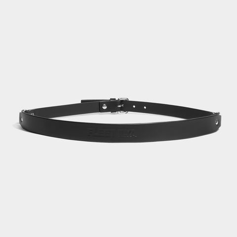 DOUBLE D-RING BELT - BLACK