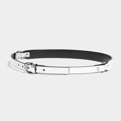 DOUBLE D-RING BELT - SILVER