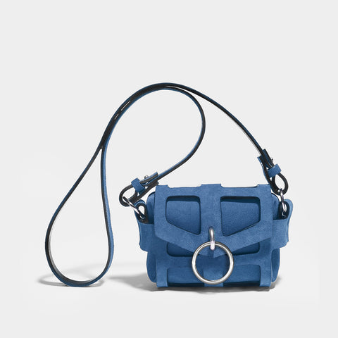 O-RING TINY CAGE BAG - DENIM BLUE