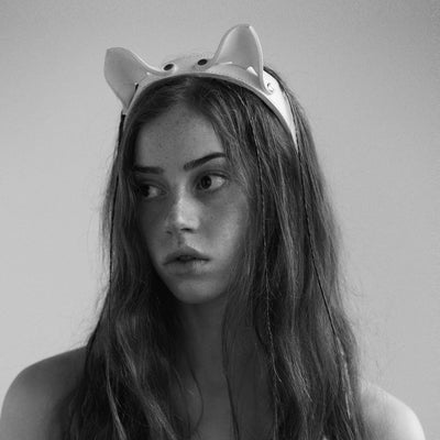 CAT EAR HEADBAND WHITE