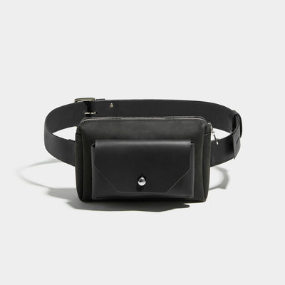 CROSS BODY HIP POUCH BLACK