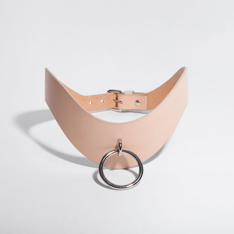 O-RING CURVED BELT - NUDE