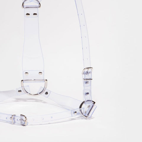 D-RING HARNESS - CLEAR PVC