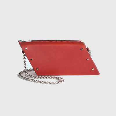 MINI PARALLELOGRAM CLUTCH RED