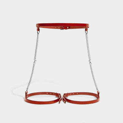 SLIM CHAIN SUSPENDER HARNESS - RED