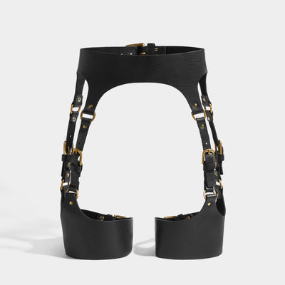 SOFT CURVED SUSPENDER HARNESS - BLACK