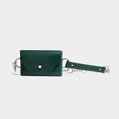 CHAIN CROSS BODY BELT BAG - EMERALD