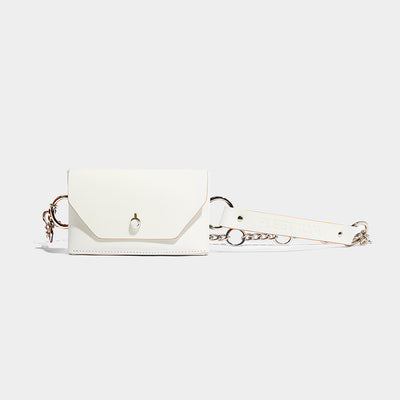 CHAIN CROSS BODY BELT BAG IVORY