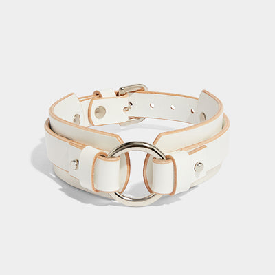 CHUNKY O-RING COLLAR IVORY